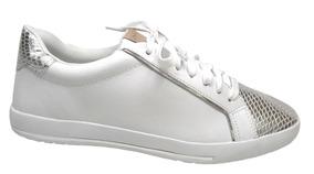 396c838309b Sapatênis Feminino Flatform Comfortflex 1659402 Branco prata
