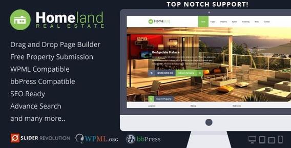 Wordpress 45 Templates Theme Forest Para Imobiliárias