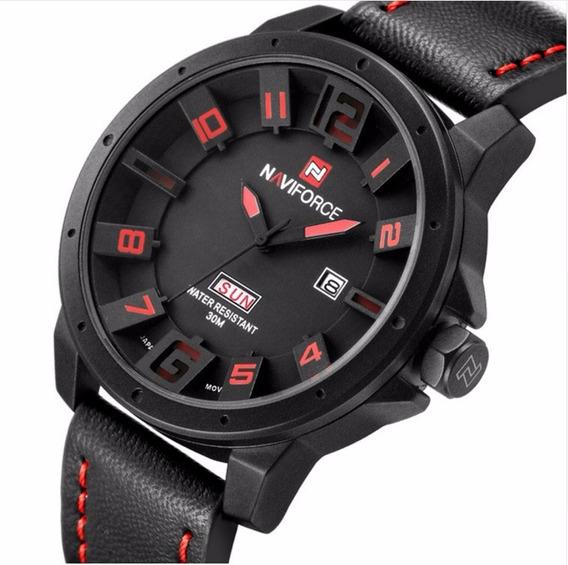 Relógio Masculino Naviforce Original 3d Preto Presente!