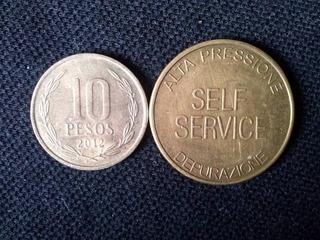 Ficha Metálica Self Service Bronce (c 5)