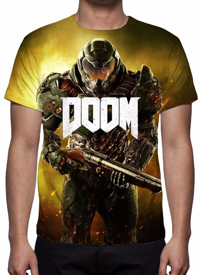 Camisa, Camiseta Game Doom - 2016 - Estampa Total