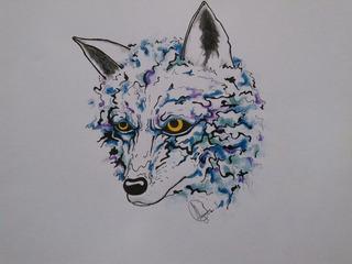 Dibujo Arte Original Lobo