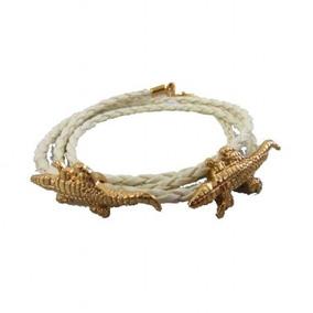 Pulseira Bi Fem Marfim - Alligators Cross - Sra. Cuck