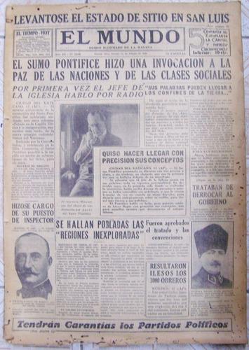 El Mundo Nº 1000 * 13 De Febrero De 1931 * Diario Ilustrado
