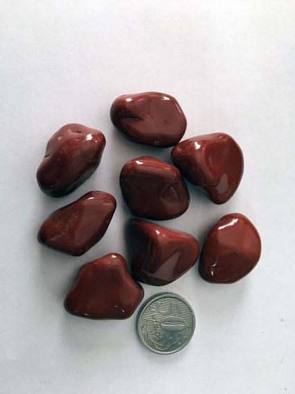 Pedra Rolada Jaspe Vermelho Pedras 500g