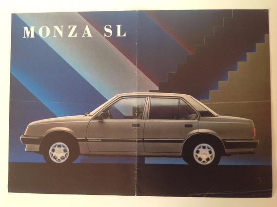 Propaganda Antiga Da Linha Monza Sl 1989 - Original!