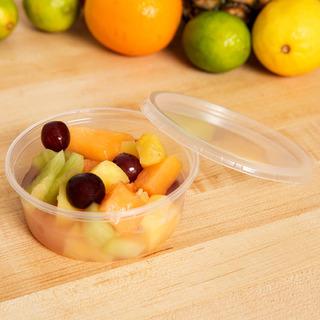 500 Contenedores Deli De 8 Oz Con Tapa Para Alimentos Aptos Para Microondas