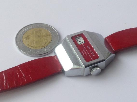 Reloj Buler Digital Rojo. Horas Saltantes.dama.original 70