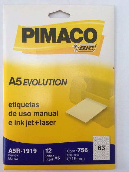 Etiqueta Pimaco A5q-1919e Com 12 Folhas Pimaco C/1 Unidade.