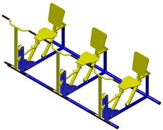 Simulador De Remo Triplo Academia Ar Livre