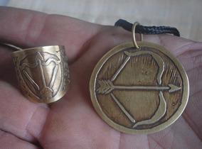 Medalha E Anel De Oxóssi - Odé - Umbanda, Candomblé