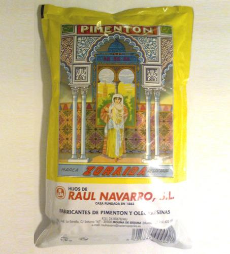Pimentón Español Zoraida Paquete 1 Kilo Envasado En Origen