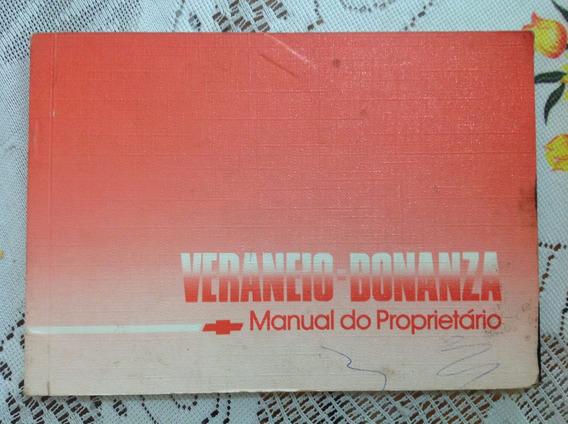 Manual Do Proprietário-chevrolet Veraneio Bonanza 1989-raro!