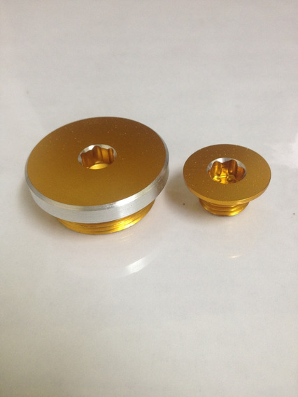 Kit Tampa Oleo Estator Para Moto Estator ( Cor Dourado )