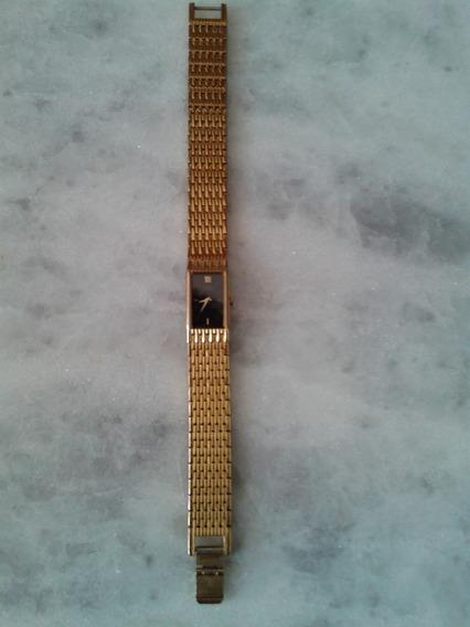 Lindo Relógio Seiko Quartz Foleado A Ouro Original Femin