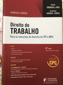 Direito Do Trabalho 2016 8ª Analista Trt E Mpu Henrique Corr