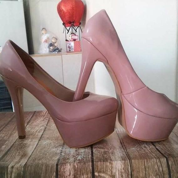 Sapatos Femininos Scarpins Plataforma Solado Vermelho