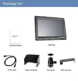 Monitor Feelworld A737 4k + Np-f550 + Braço Magico