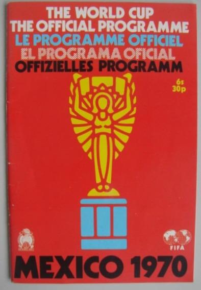 Programa Oficial Futebol Copa Do Mundo Fifa 1970 Mexico