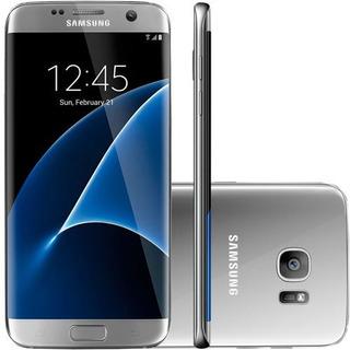Samsung Galaxy S7 Edge Prata Lacrado Com Nota Fiscal