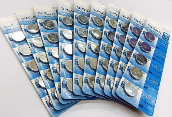 Bateria De Lition Cr 2032 Suncom 100 Un -kit 20 Cartelas