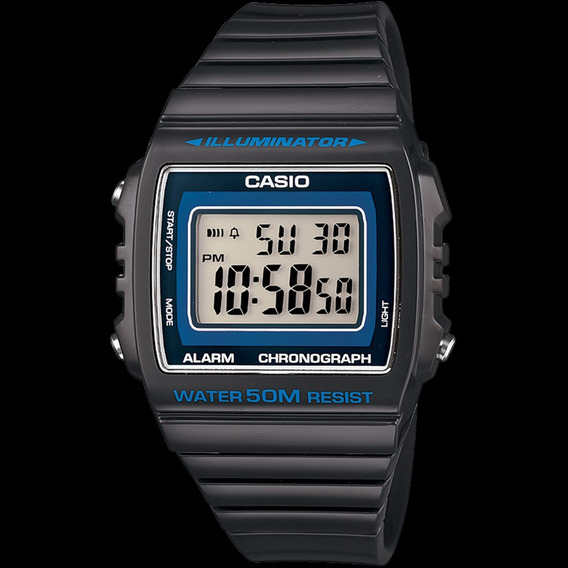 Relógio Casio W-215h-8av Unissex Alarme Cronômetro Led Ambar
