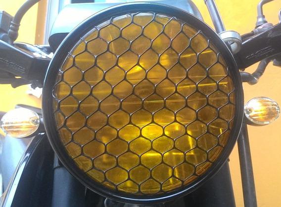 Tela Grade Farol Moto Bobber Scrambler Café Racer 22x22 Cm