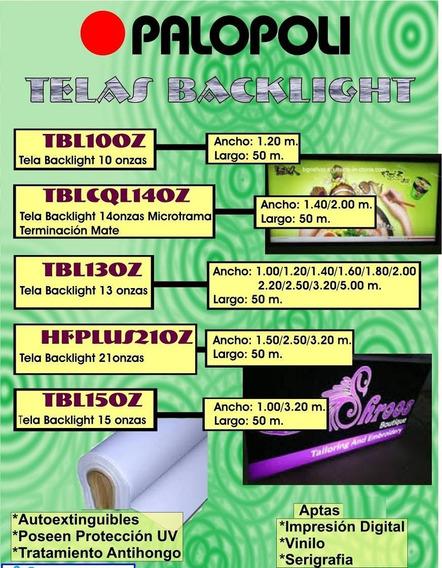 Tela Translucida Back Light 15 Onz Anchos 1 Y 3.20m Palopoli