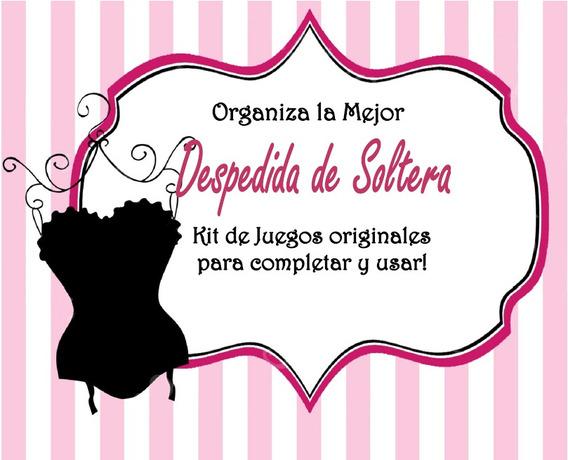 Juegos Para Despedida De Soltera!! Kit Imprimible/digital