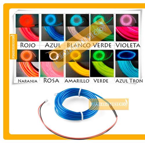 El Wire Hilo Luminoso Luz Neon Dj Cable Tron 3 Metros Led Hd