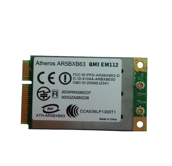 Atheros Ar5bxb63 Qmi Em112 Wlan Mini Pci-e Wireless Card Wif
