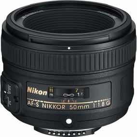 Lente Nikon Af-s Nikkor 50mm F/1.8g C/ Parasol