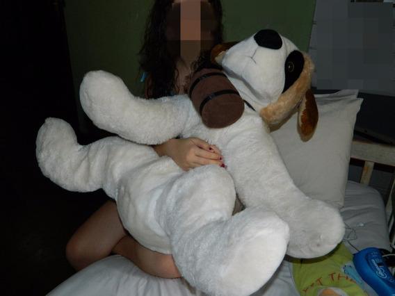 Cachorro Pelucia São Bernardo 70cm Gigante
