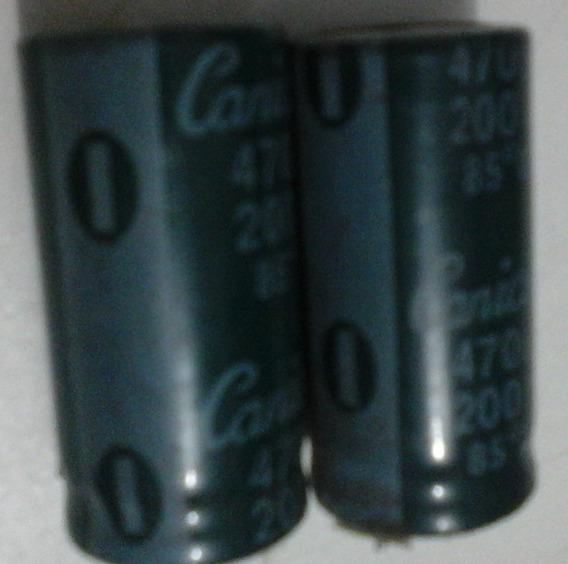 02 Capacitor Eletrolítico 470uf 200v +85ºc Canicon 0004