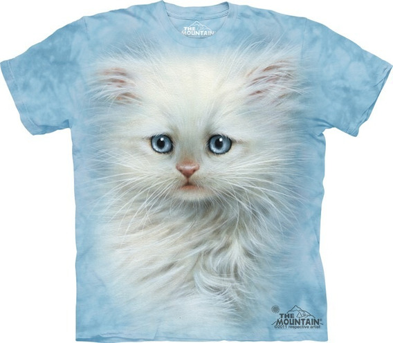 Playera 4d - Unisex - 3467 Fluffy White Kitten.