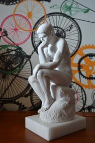Escultura O Pensador Rodin Po Marmore 27cm Made In Italy