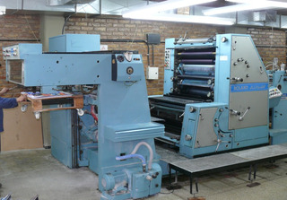 Offset Roland Favorit 2 Colores Maquina Impresora 52x72