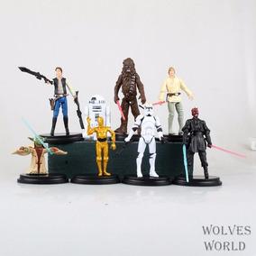 Miniaturas 8 Bonecos Do Star Wars Yoda R2d2 - Pronta Entrega