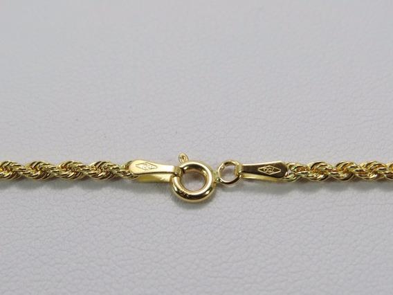 Cordão Masculino Baiano 60cm Em Ouro 18k-750