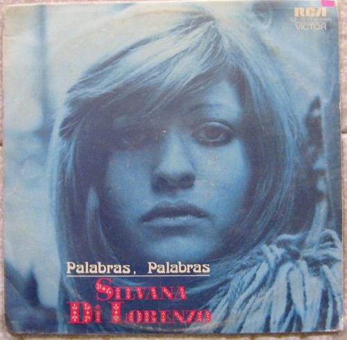 Silvana Di Lorenzo  Palabras, Palabras, Lp Vinilo