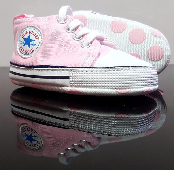 Boticas Zapatos Bebe Niña Converse Talla 0 A 6 Meses Rosada