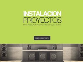 Instalación Home Theater Soportes Tv Led Pantalla Proyector