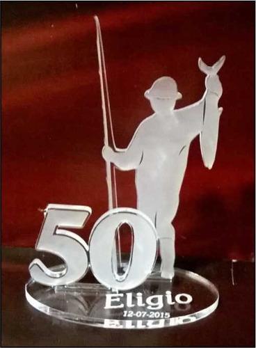 Imagen 1 de 6 de 20 Souvenirs Hombre Pesca Cumple 18 50 40