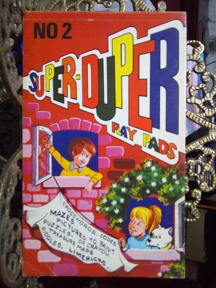Livros Super-duper Play Pads Nºs 1 E 2 Brimax Antigos Raros