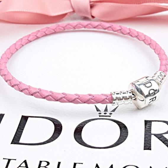Bracelete Pulseira Pandora 20 Cm Couro