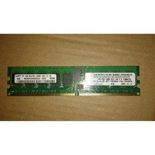 Ibm - 1gb (1x1gb) 400mhz Pc2-3200 Cl3 P/n 38l5093