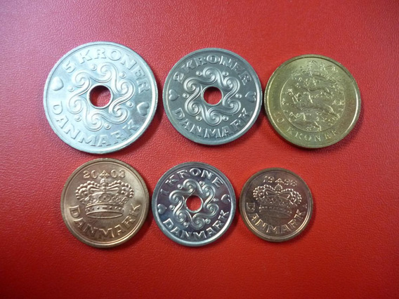 Dinamarca Set De 6 Monedas 1998 - 2005 Ore Y Kroner Unc