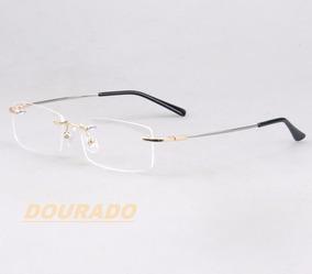 7199b19e4 2 X Armações P/ Óculos De Grau Em Titânio Memory Haste Mole