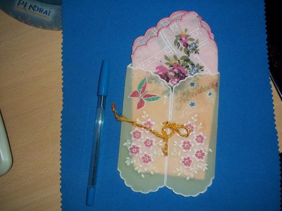 Tarjeta Postal Antigua Navideña Hechas A Mano Excelente !!!