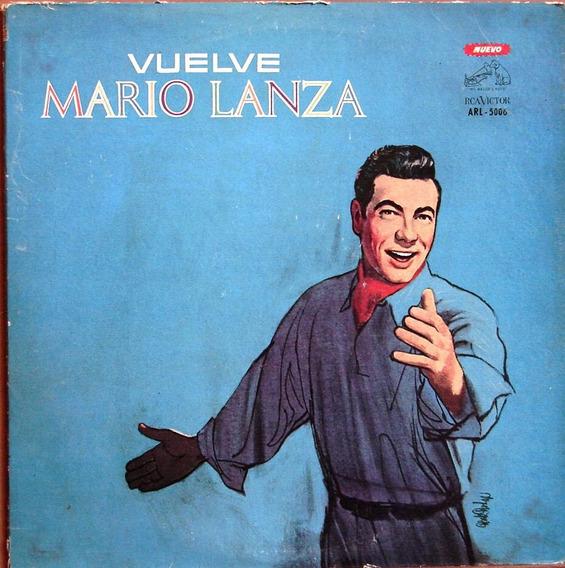 Mario Lanza - Vuelve - Lp Vinilo Año 1965 - Tenor